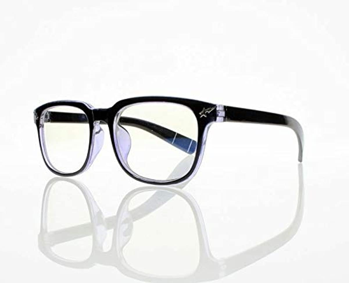 延ばす孤独なキャメルFidgetGear ビッグスクエアユニセックスオタクオタクフレーム軽量老眼鏡+ 1.0?+ 4.0アイウェア 青