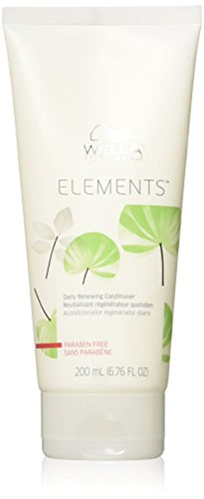 挨拶する再生可能派手Wella Elements Conditioner, 6.7 Ounce