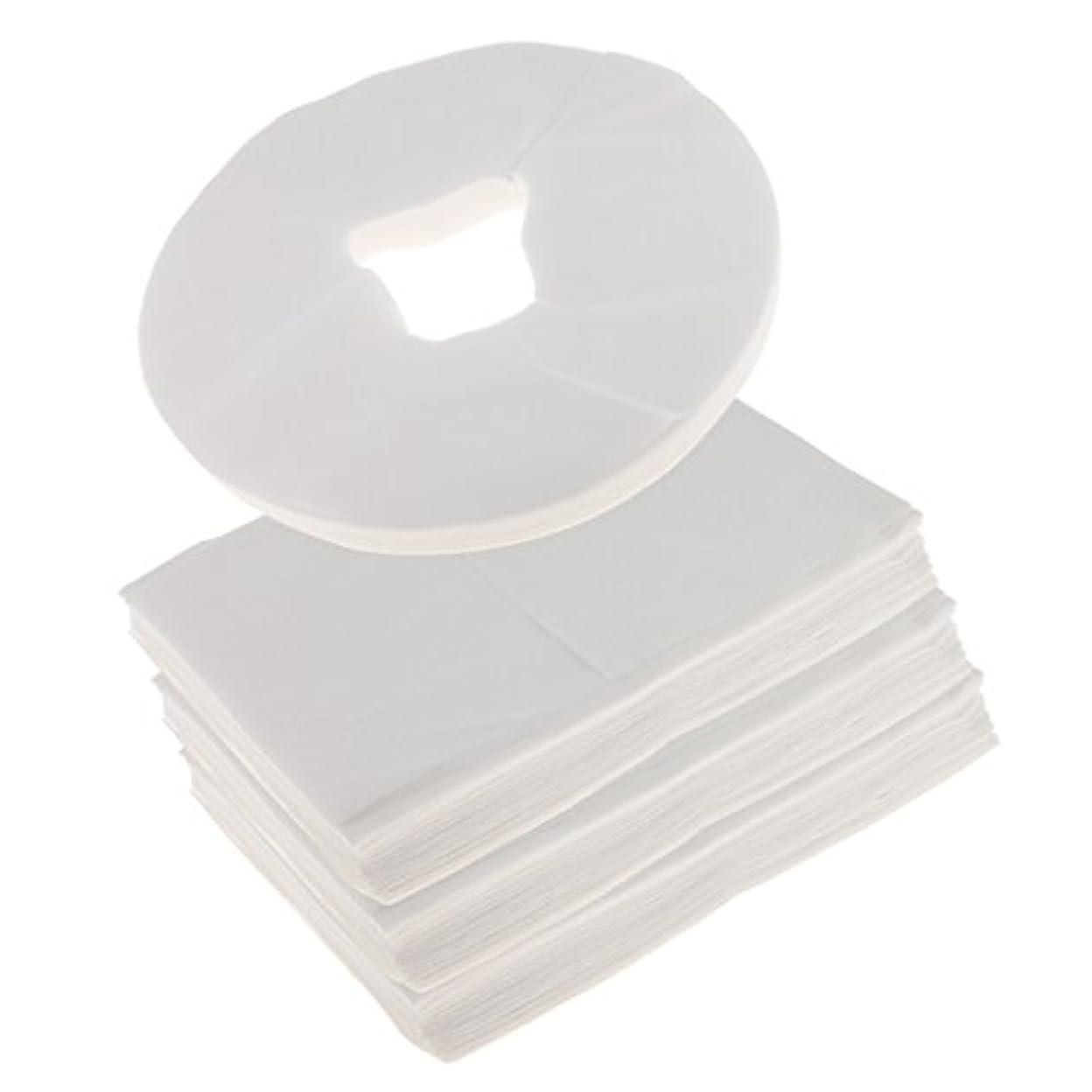 汚染された重さ用心するFenteer 約100枚 使い捨て フェイスクレードルカバー 約100枚 使い捨て ベッドシーツ クッションカバー ベッドシーツ マッサージ エステ クレードル