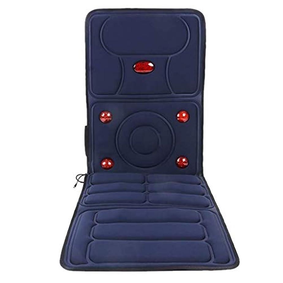 保有者腐った遡るマッサージクッション、電動マッサージクッション、遠赤外線/加熱セラピー、バックの首の圧力を軽減、ベッド、ホーム/オフィス/車の使用