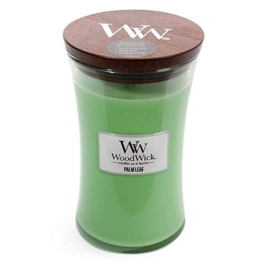 歴史家土曜日むき出しPalm Leaf WoodWick 22 oz Large砂時計Jar Candle Burns 180時間