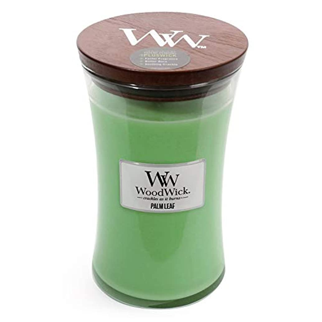 気分正確さ発音Palm Leaf WoodWick 22 oz Large砂時計Jar Candle Burns 180時間