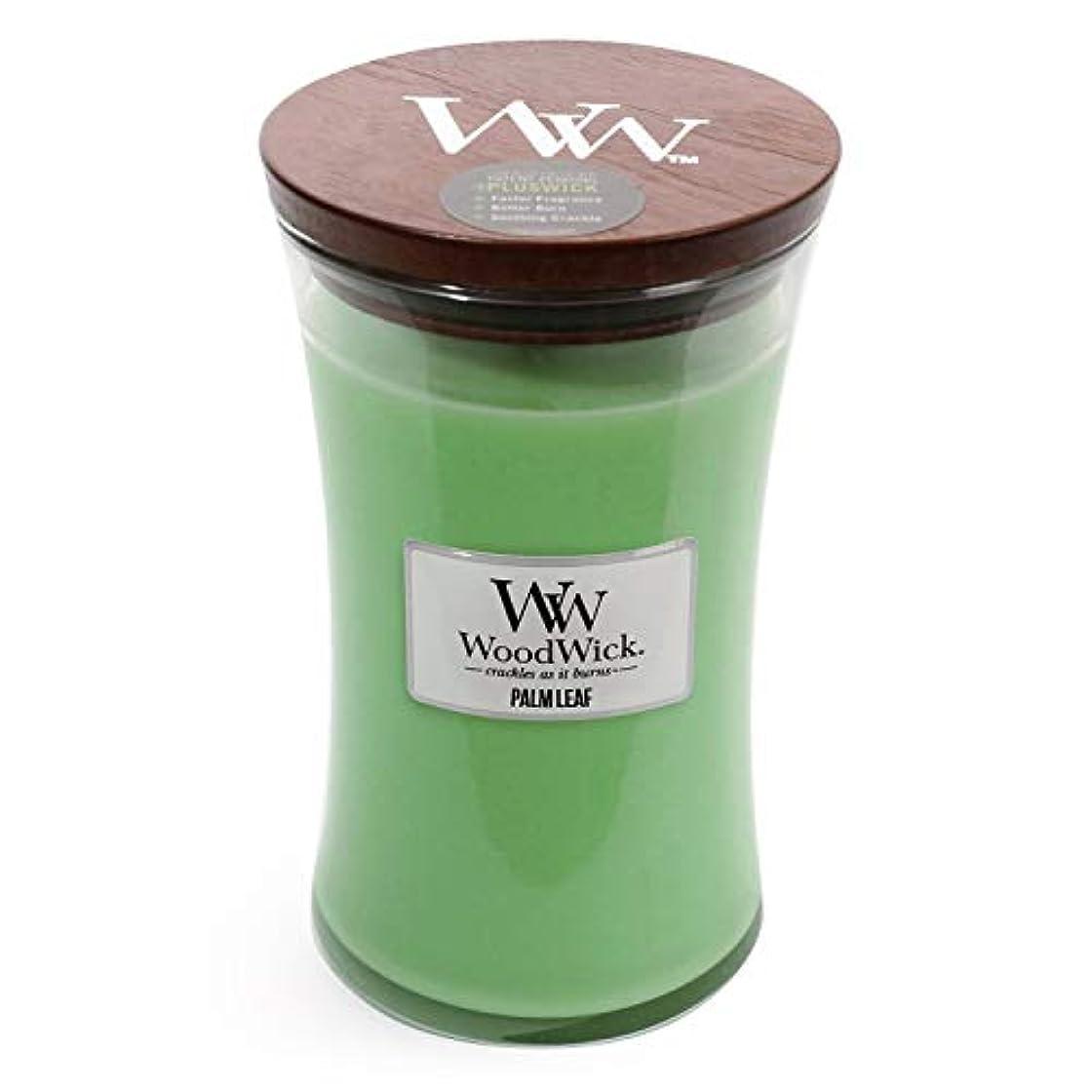 性能見込み牛Palm Leaf WoodWick 22 oz Large砂時計Jar Candle Burns 180時間