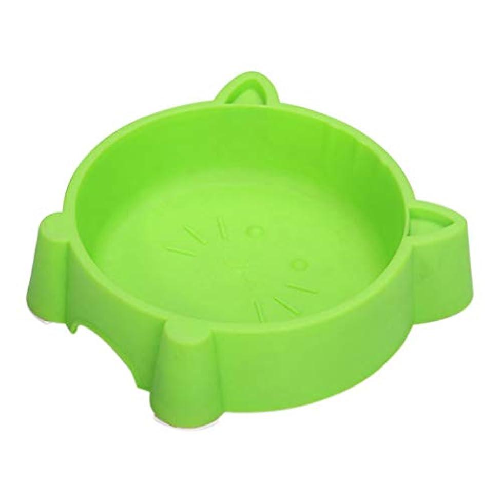 Fashionwu ペット キャット ペット食器 早食い防止 ペットボウル 猫食器 犬猫 犬 皿 給水 給餌 食器 餌やり 水やり 滑り止め ノンススリップ 給餌ボウル プラスチック グリーン