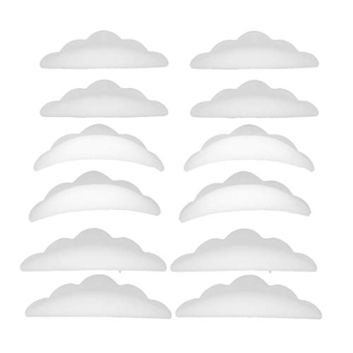 学期居眠りするベスビオ山まつげパーマ シリコンパッド まつげパッド メイクアップアーティスト アクセサリー 約12本入り