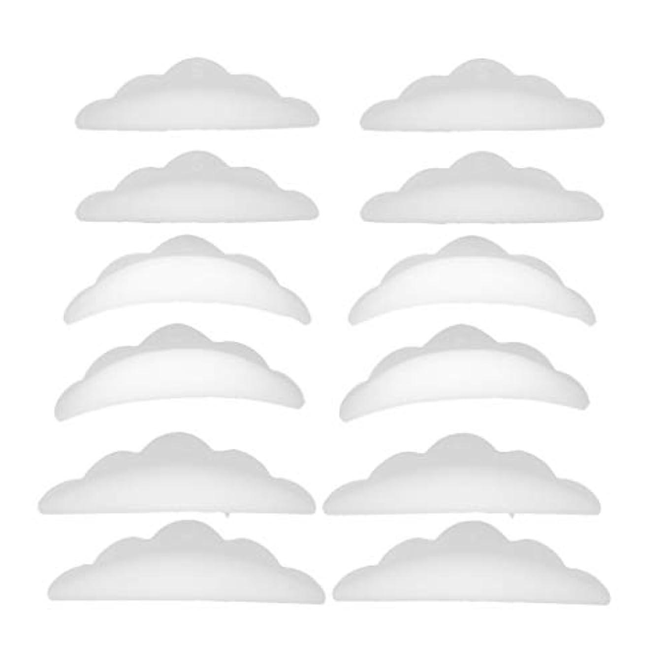 減衰シングル柔らかさまつげパーマ シリコンパッド まつげパッド メイクアップアーティスト アクセサリー 約12本入り