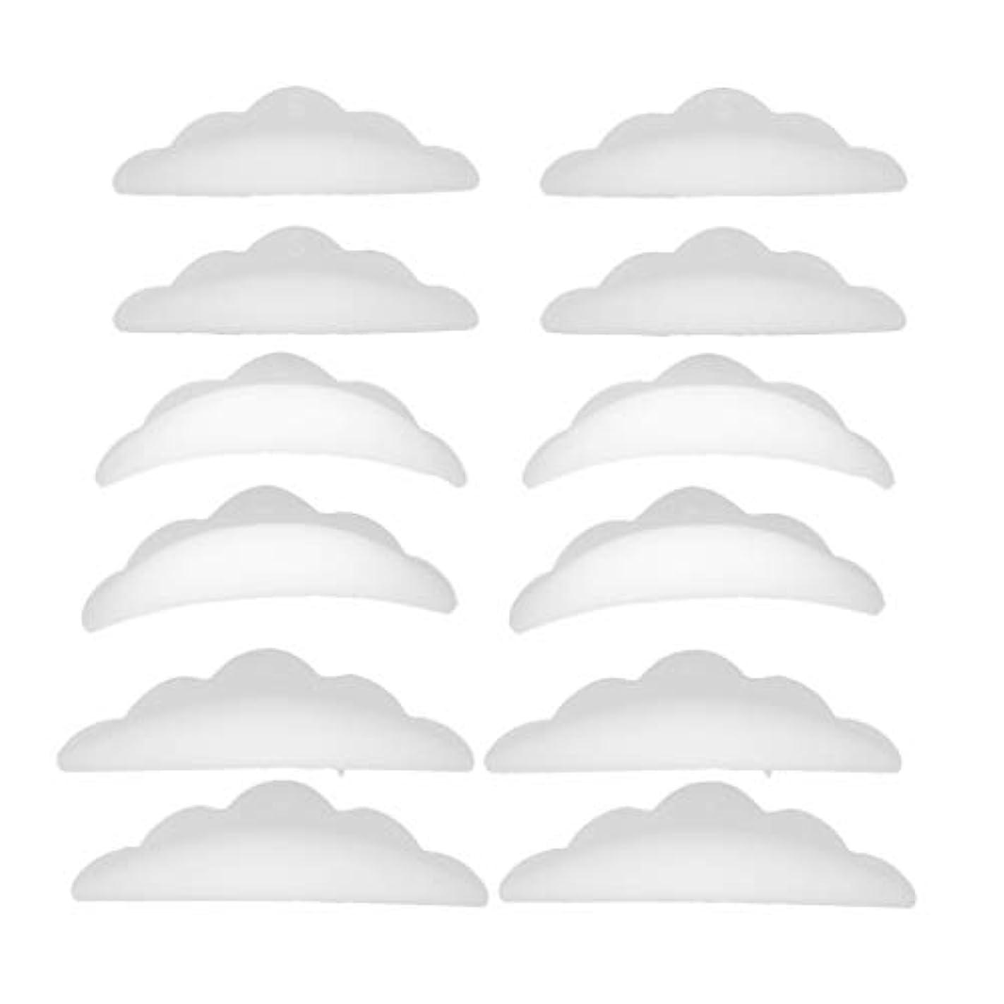 勉強する干し草ぬれたまつげパーマ シリコンパッド まつげパッド メイクアップアーティスト アクセサリー 約12本入り