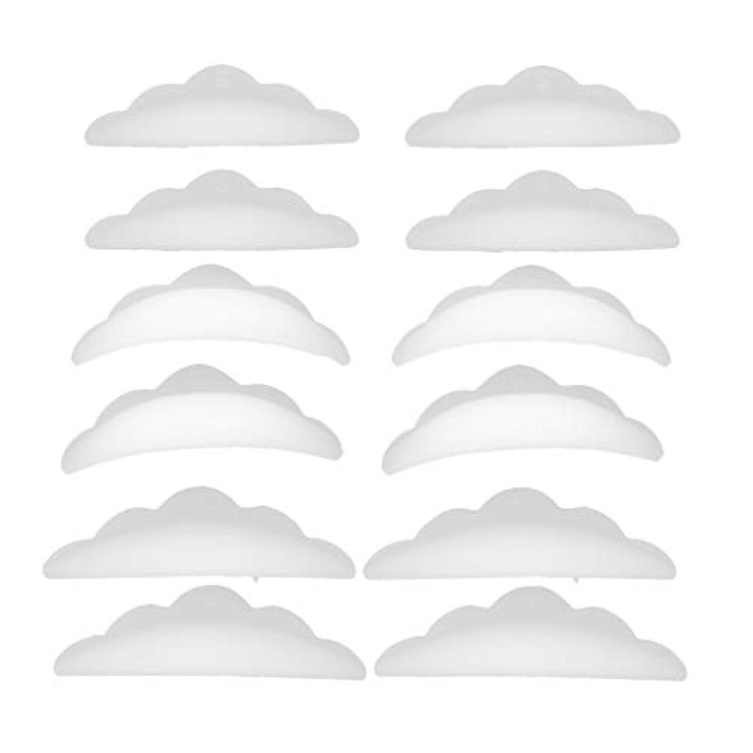 征服おもてなしドラフトまつげパーマ シリコンパッド まつげパッド メイクアップアーティスト アクセサリー 約12本入り