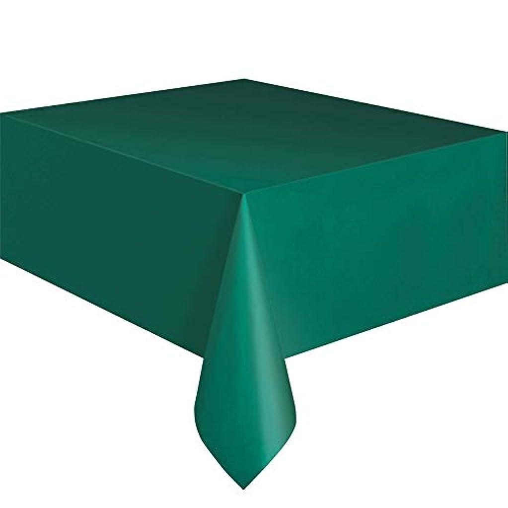 無意識未来不利益goupgolboll-137x183cm使い捨てプラスチック無地テーブルカバーパーティーケータリングテーブルクロス - エメラルドグリーン