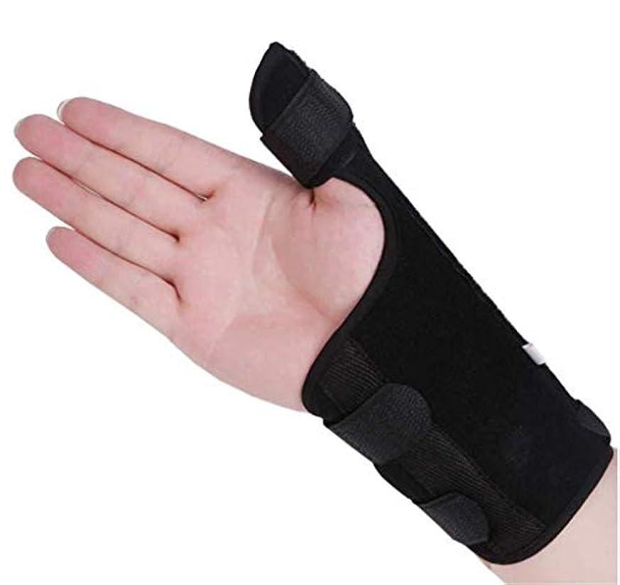 百科事典ある敵対的手首-親指スプリント装具、手根管手首装具、通気性手首スプリント、手根管症候群/腱炎/急性捻rain用手首副木 (L,右手)