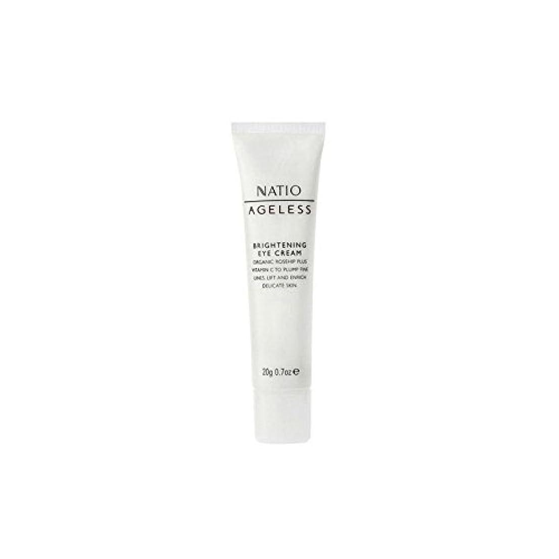 入学する花意図的Natio Ageless Brightening Eye Cream (20G) (Pack of 6) - 永遠の白アイクリーム(20グラム) x6 [並行輸入品]