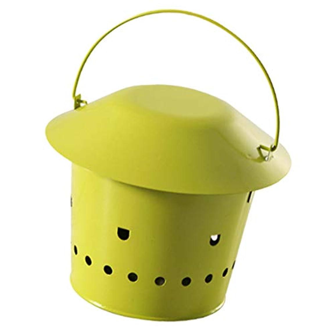 家具改善する叫び声蚊取り線香 ホルダー 創造的 携帯用 モスキートコイルホルダー - 緑