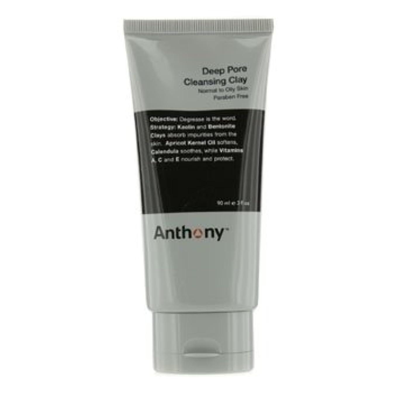 センサー沼地信仰アンソニー Logistics For Men Deep Pore クレンジング Clay (Normal To Oily Skin) 90g [並行輸入品][海外直送品]