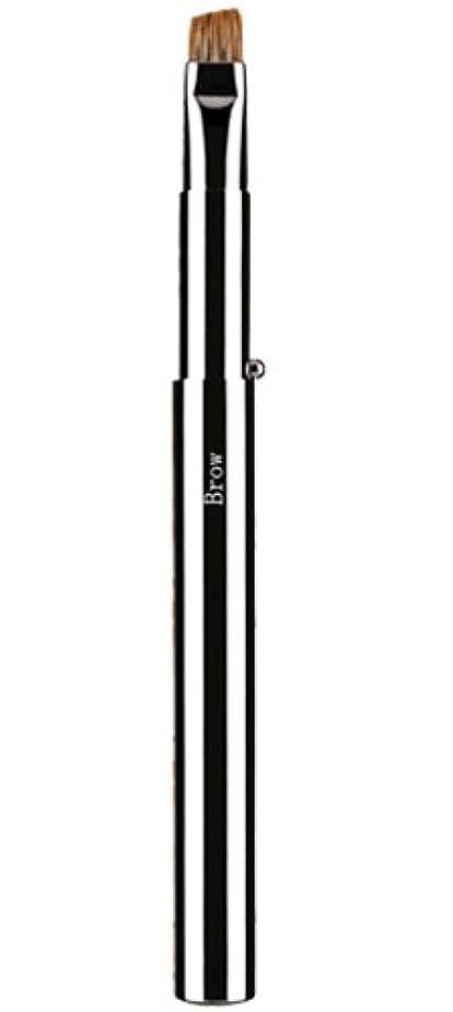ブルジョンシーケンス軽広島熊野筆 携帯アイブローブラシ 毛質 ウォーターバジャー