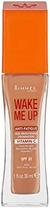 Rimmel London Wake Me Up Foundation, 400 Natural Beige
