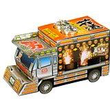 演歌も似合うトラック型の噴出花火なんと最後に荷台の中が光っちゃう男の花道 (噴水花火)