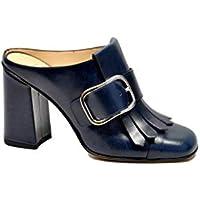 null Bruglia Women's 6472NIRVANABLUO Blue Leather Heels