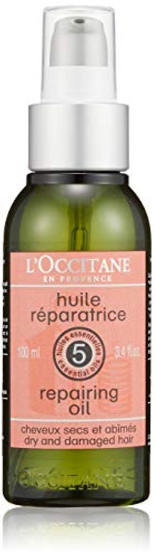 マニア配管工香ばしいロクシタン(L'OCCITANE) ファイブハーブス リペアリングヘアオイル 100ml