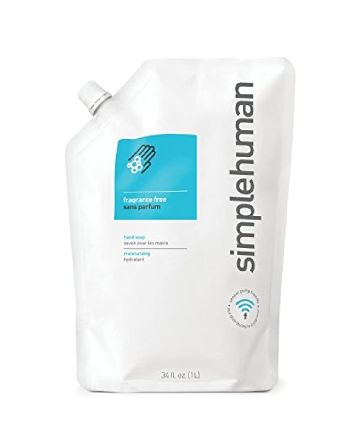 simplehuman(シンプルヒューマン) 保湿液体ハンドソープ詰め替えパウチ 1 Pack オフホワイト CT1023