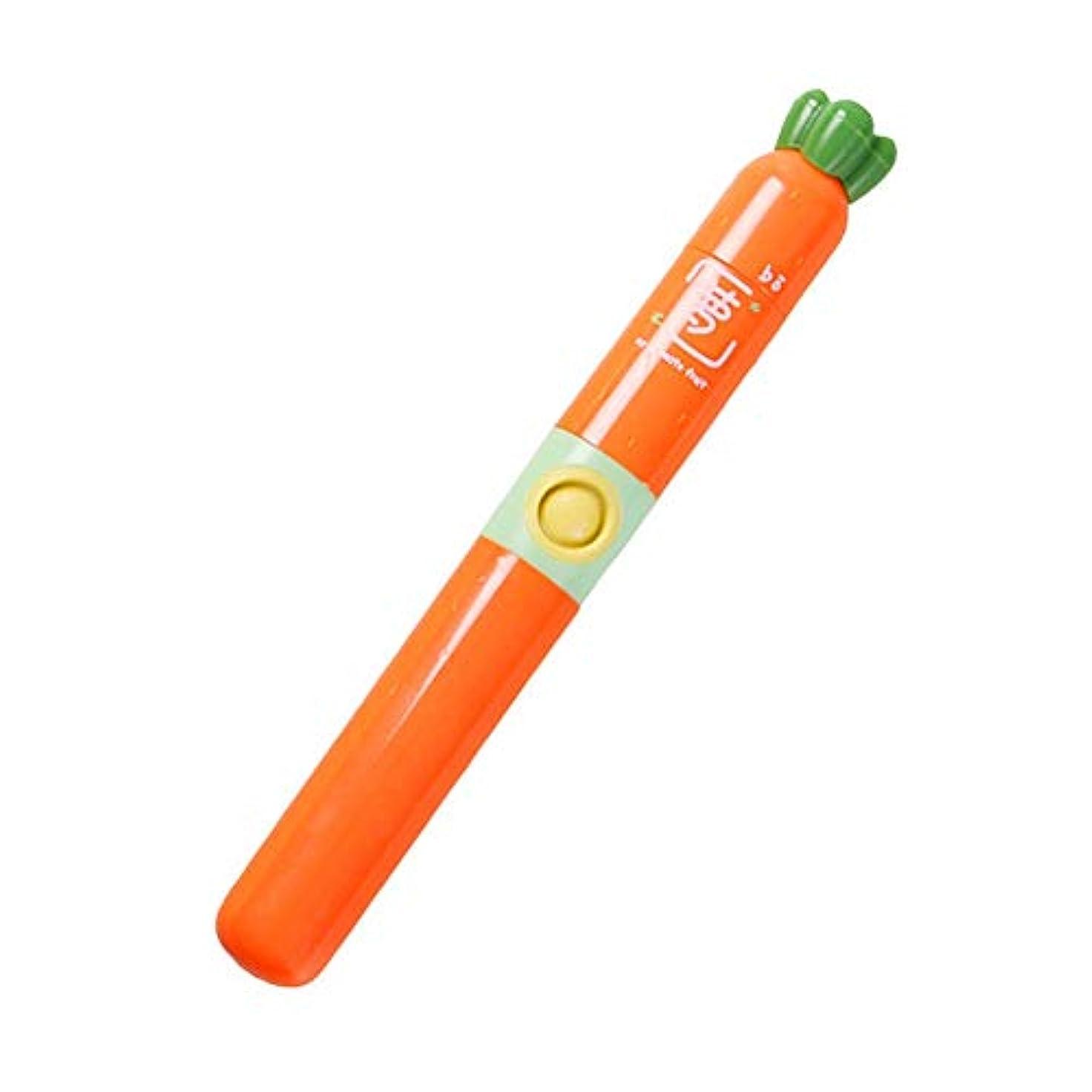 創造取る四家庭用電動歯ブラシ 歯ブラシを白くする子供の電動歯ブラシ防水柔らかい毛 男性用女性子供大人 (色 : オレンジ, サイズ : Free size)