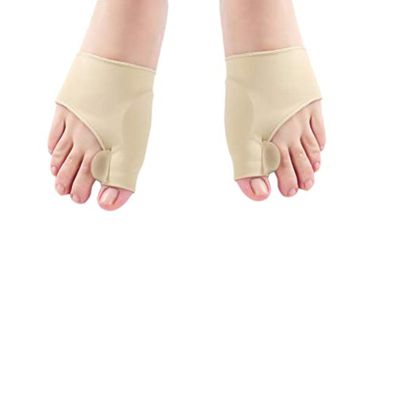 盗難マイルド移行するHealifty un補正器のつま先の整形外科の外反母趾の補正子のつま先の整形外科の腱の副木の親指の区切り記号の昼と夜の使用のための痛みの軽減 - サイズL(カーキ)