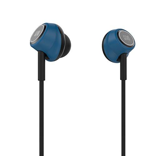 GVOEARS イヤホン 高音質 耳栓型 インイヤーヘッドホン 高遮音性 フィット感抜群 有線タイヤホン ヘッドホン スタイリッシュ 仕様 (ブルー)