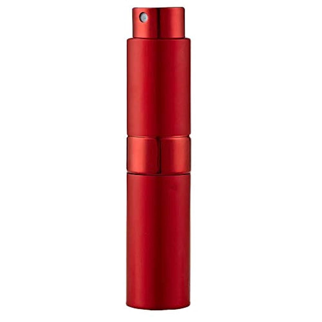 バイナリ川予測するLadygogo 香水アトマイザーセット 回転プッシュ式 スプレー ボトル 香水スプレー 詰め替え 持ち運び 身だしなみ 携帯用 男女兼用 (レッド)