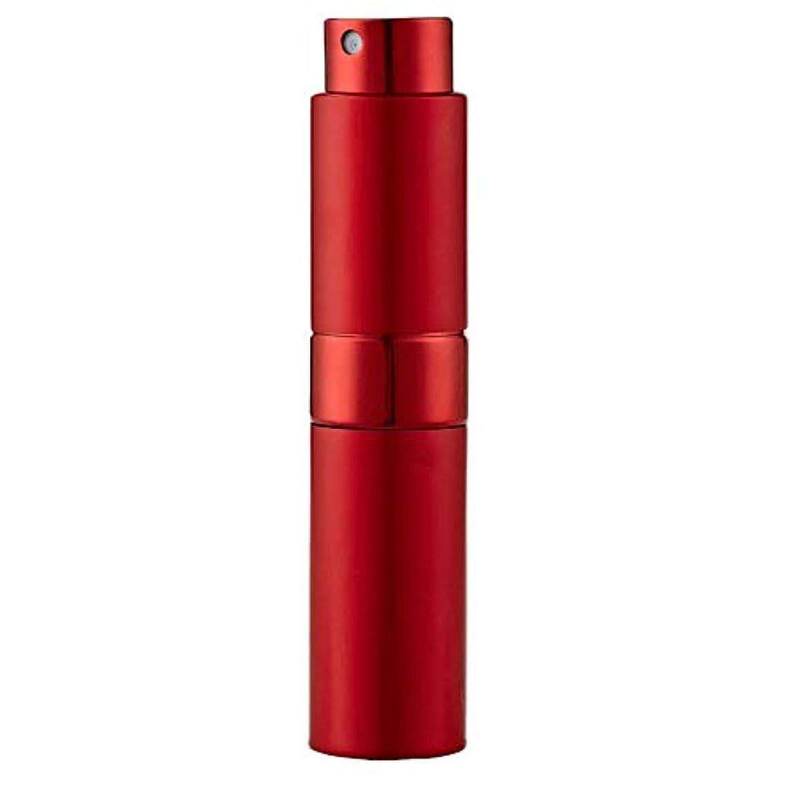Ladygogo 香水アトマイザーセット 回転プッシュ式 スプレー ボトル 香水スプレー 詰め替え 持ち運び 身だしなみ 携帯用 男女兼用 (レッド)