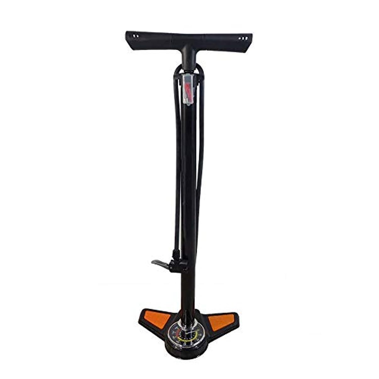 満たす三角形ご覧ください自転車 空気入れ バロメーターポータブル自転車乗馬機器と家庭用床に立っポンプ バイク ポンプ (Color : Black, Size : 640mm)
