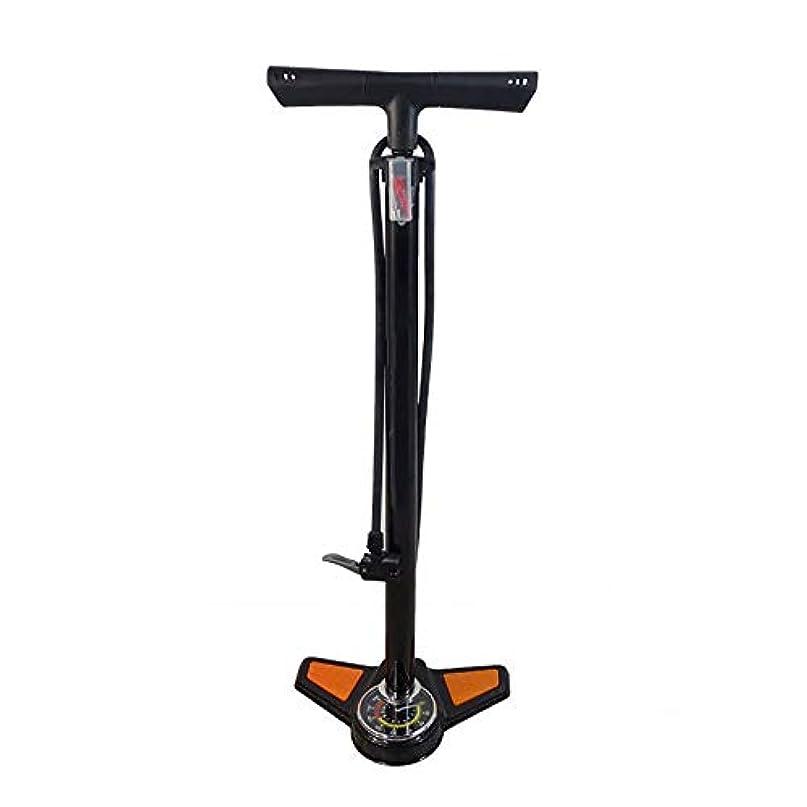 休眠参照するキモい自転車ハンドポンプ バロメーターポータブル自転車乗馬機器と家庭用床に立っポンプ (Color : Black, Size : 640mm)