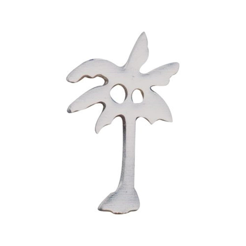 謎めいた想像力豊かなチャップリトルプリティー ネイルアートパーツ ヤシの木 S シルバー 10個