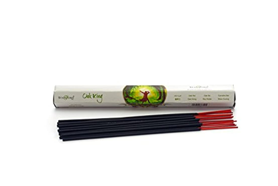 扱いやすい呼吸ポーターPack Of 6 Oak King Incense Sticks By Anne Stokes