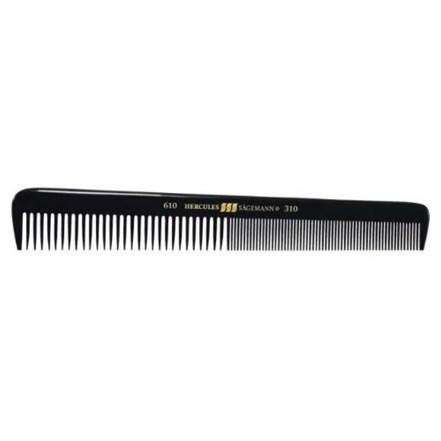 純正永続じゃがいもHercules S?gemann Gents Comb for short hair   Ebonite - Made in Germany [並行輸入品]