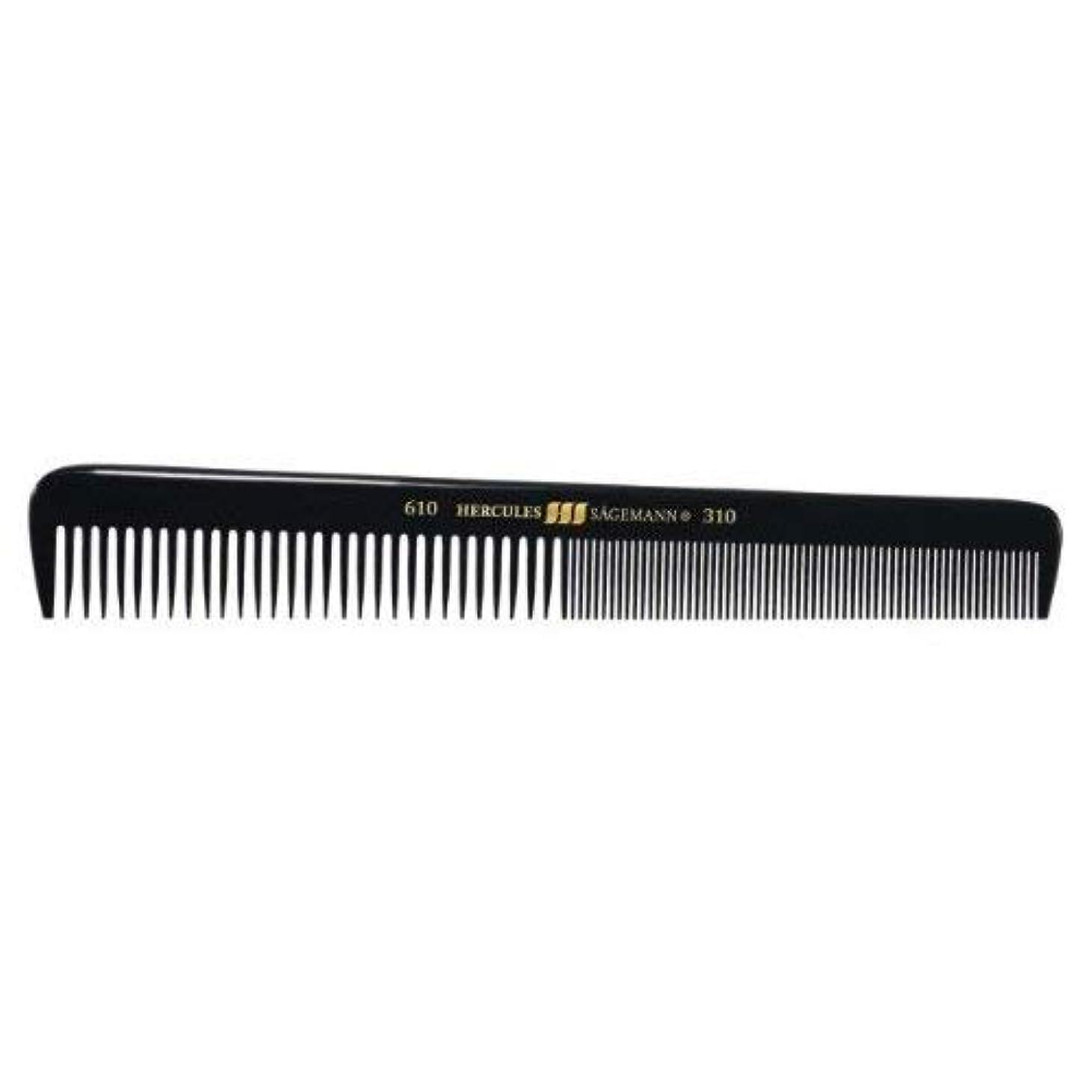 とげのあるためらうランドリーHercules S?gemann Gents Comb for short hair | Ebonite - Made in Germany [並行輸入品]
