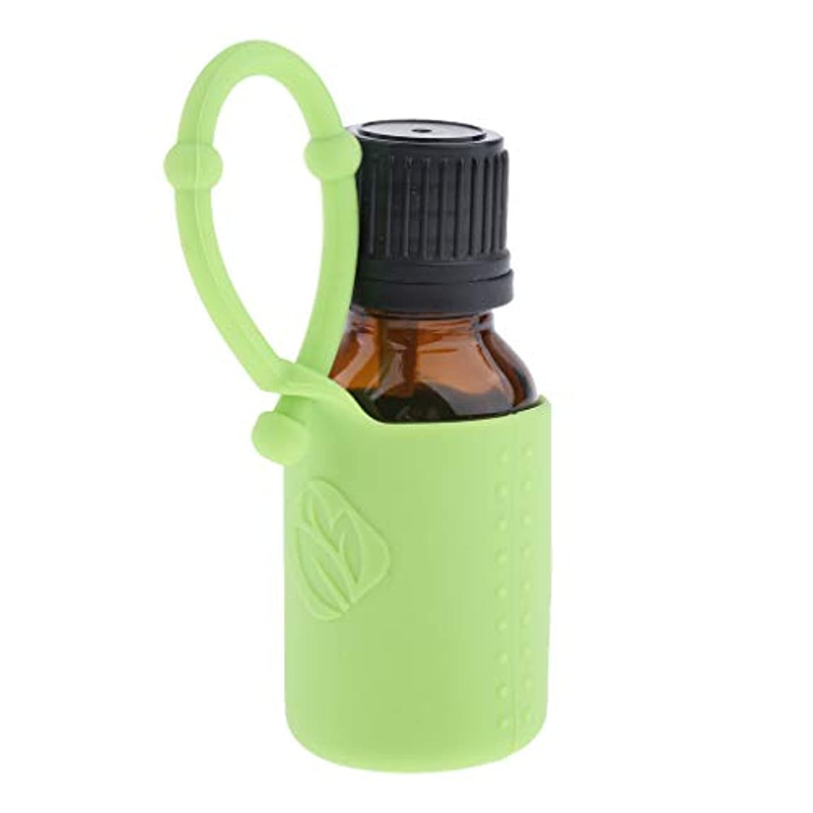 ベギン放射能難破船アロマ保存容器 香水瓶 空ボトル 詰替え容器 シリコンカバー 旅行用品 6色選ぶ 15ミリリットル - 緑, 説明したように