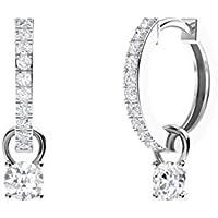 Diamondere 14k white-gold round-shape G-H diamond