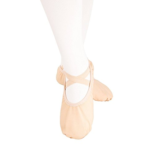 KUKOME バレエシューズ バレエ用品 バレエ靴 キャンバス製 トウシューズ 布製 スプリットソール エレクトーンにも 子供 大人 初心者 練習用