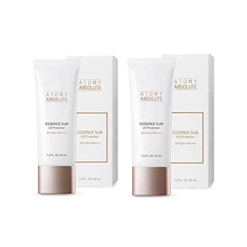一般的に言えばレザー乱闘アトミアブソリュートエッセンスサンUVプロテクター40mlx2本セットサンクリーム韓国コスメ、Atomy Absolute Essence Sun UV Protector 40ml x 2ea Set Sun Cream Korean Cosmetics [並行輸入品]