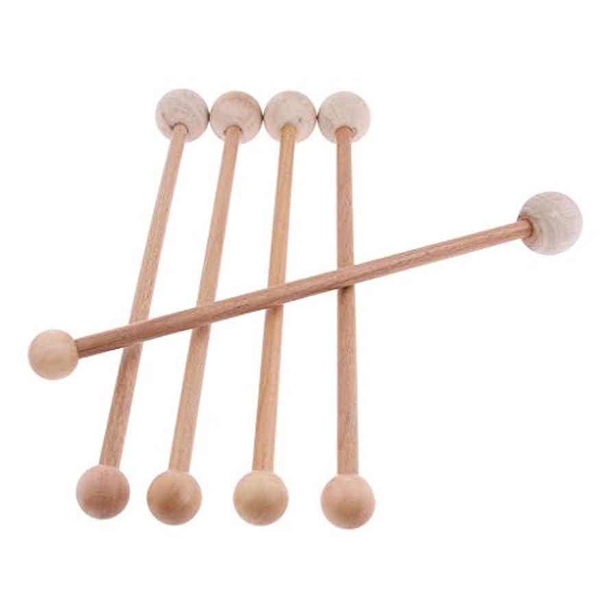 方法論認可実証するマッサージハンマー ノック 肩たたき棒 ツボ押し 木製 手持ち ストレス解消 肩 背中 腰 5個