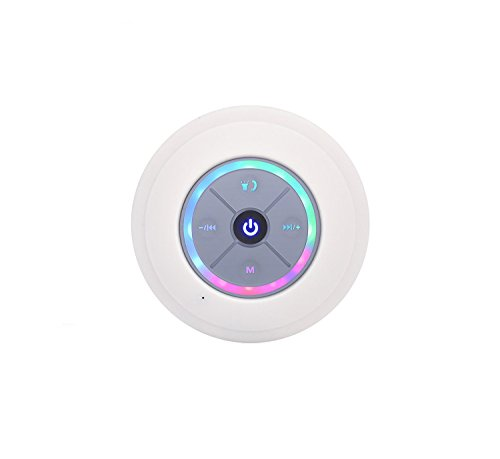 KARAROKU スピーカー防水 Bluetooth4.3 吸盤式お風呂/アウトドア専用 Bluetooth ワイヤレス スピーカー マイク搭載