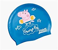 Zoggs Kids George Pig Silicone Swimming Cap - Blue by Zoggs