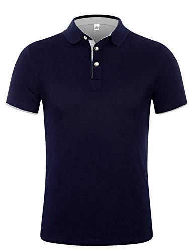 APTRO(アプトロ)ポロシャツ 半袖 メンズ ストライプ 純色 吸汗速乾 スポーツウェア ゴルフウェア