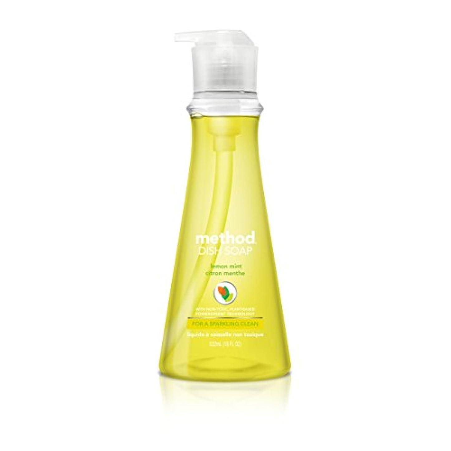 去る小包ブームMethod Pump Dish Soap,Lemon Mint, 18 Ounce (Pack of 2) by Method