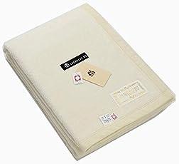 公式三井毛織 国産 洗える 家蚕 シルク毛布 (毛羽部) シングルサイズ 140x200cm ナチュラル色