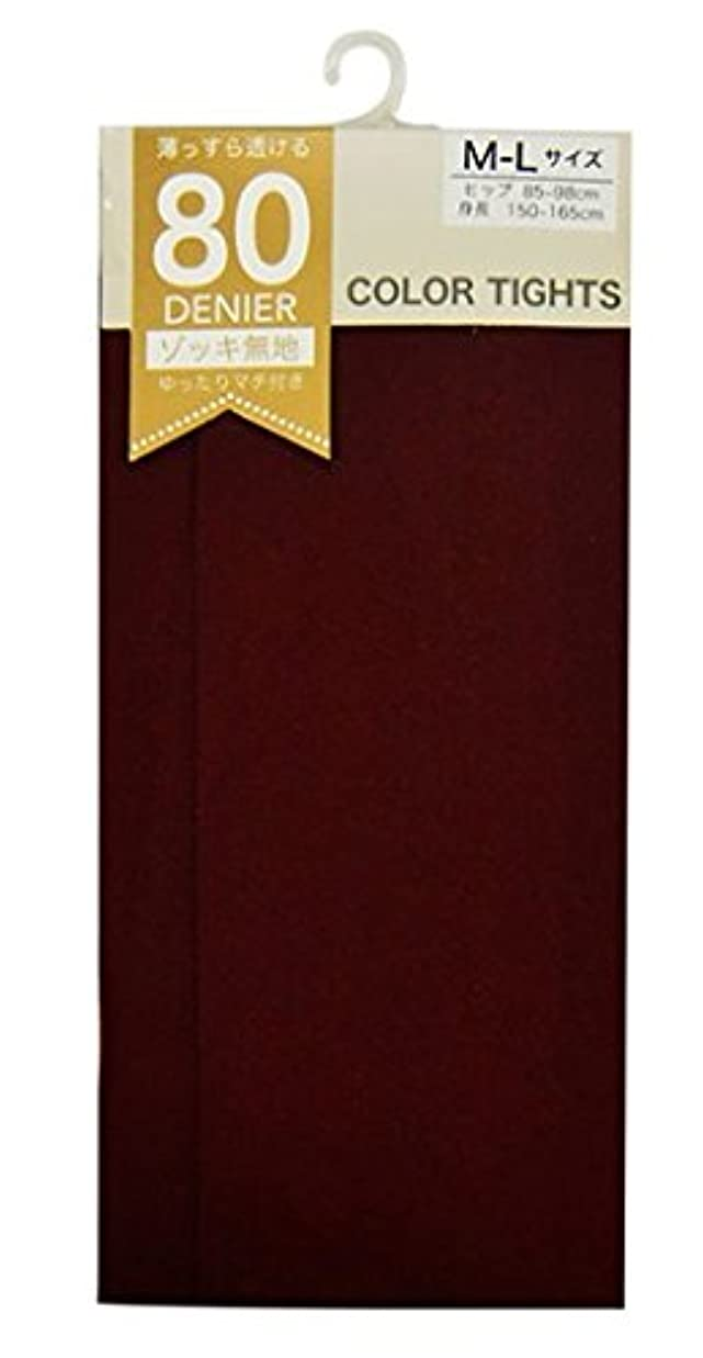 エクスタシーヘビチケット(マチ付き)80デニールカラータイツ ボルドー L~LL