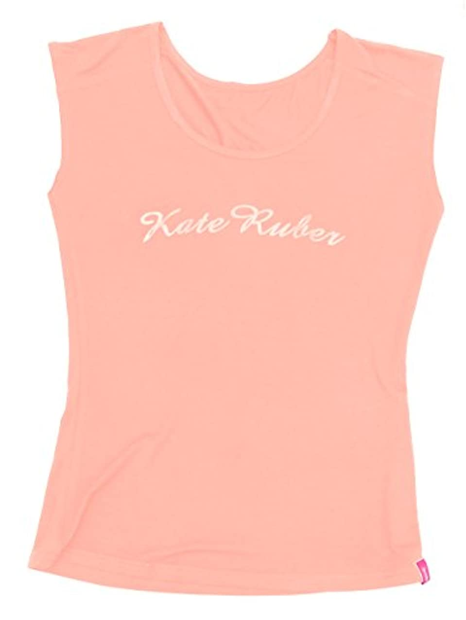 一口あたたかい歩道Kate Ruber (ケイトルーバー) ヨガTシャツ ピンクM-L