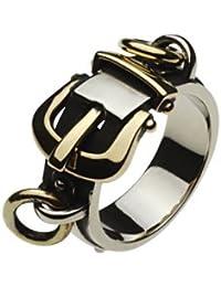 【セノーテ】 cenote r5019 27号 【ホワイトメタルアクセサリー リング・指輪】 ベルト バンド バックル パンクロック メンズリング
