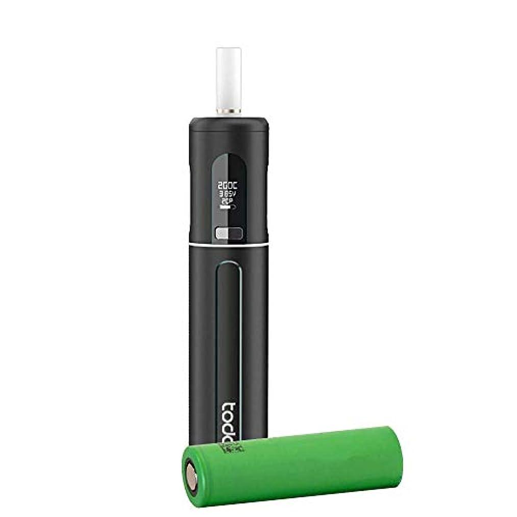 キャベツレジデンス逮捕加熱式電子タバコ スターターキット MASKKING TODOO ヴェポライザー HNBdevice たばこスティック 互換 18650バッテリー1本付き (Black)