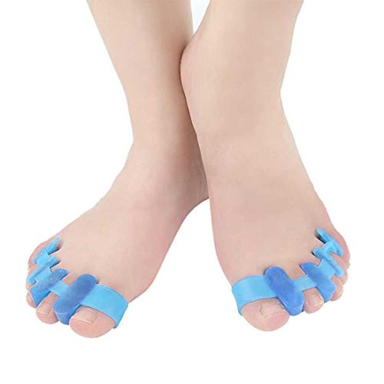 剃るラジエーター辞任ブルー5PCS腱膜瘤矯正および腱膜瘤救済、女性および男性向け整形外科用足先矯正、デイナイトサポート、外反母Valの治療および予防