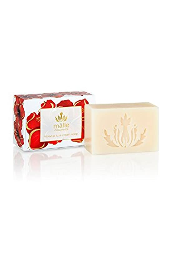 人間砂の前投薬Malie Organics Luxe Cream Soap Hibiscus(マリエオーガニクス ラックスクリームソープ ハイビスカス) 113 g